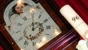 The ornate 18th century clock is on display at Liverpool Town Hall on the 24th anniversary of the Hillsborough tragedy.