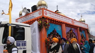 The Vaisakhi parade is currently taking place in Wolverhampton