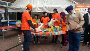 A Vaisakhi food drive has been taking place in Leicester
