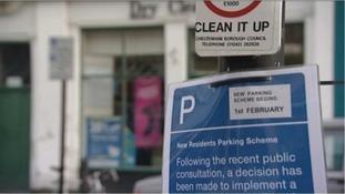 Parking sign, Cheltenham