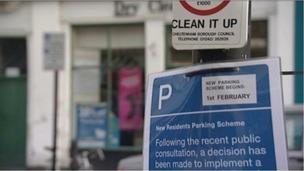 Parking sign, Cheltenham