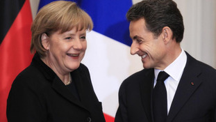 France's President Nicolas Sarkozy and German Chancellor Angela Merkel