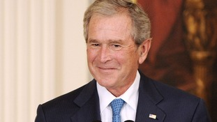 Former US President George W Bush has become a grandfather.