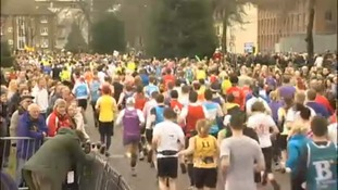 Marathon runner 'had cardiac arrest'
