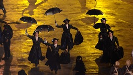 Mary Poppins sequence during the London Olympic Game