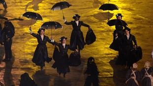 Mary Poppins sequence during the London Olympic Games