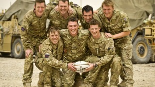 Soldiers prepare to tackle highest rugby match on Earth