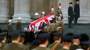 Dress rehearsal for Baroness Thatcher's funeral