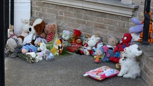 Toys left as tributes