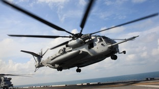 File photo of a CH-53E Super Stallion used by the US military.