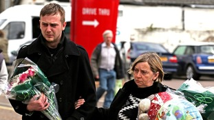 Craig McLelland, the father of three children found dead in Lowestoft, and his mother, Amanda McLelland.