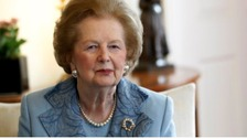 Lady Thatcher at Downing Street in 2010