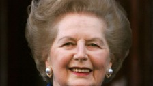 Lady Thatcher pictured in London in 2005