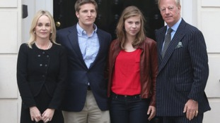 Mark Thatcher with his wife Sarah, son Michael and daughter Amanda