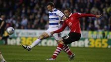 Reading's Noel Hunt and Nottingham Forest's Joel Lynch