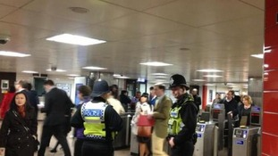 Plenty of police at St Paul's Underground station