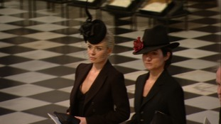 Katherine Jenkins arrives at St Paul's.