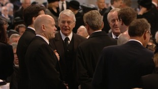 Former prime minister John Major and Foreign Secretary William Hague.