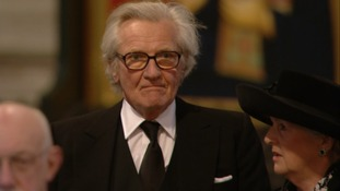 Michael Heseltine arrives at Paul's Cathedral for Margaret Thatcher's funeral.