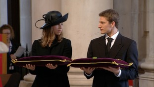 Margaret Thatcher's grandchildren, Michael and Amanda will take part in her funeral inside St Paul's Cathedral.