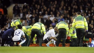 Medical teams tending to Bolton Wanderers' Fabrice Muamba following his collapse on the pitch at White Hart Lane in 2012.