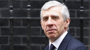 Jack Straw outside Downing Street