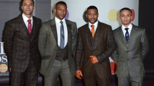 JLS arriving at The Brit Awards 2013