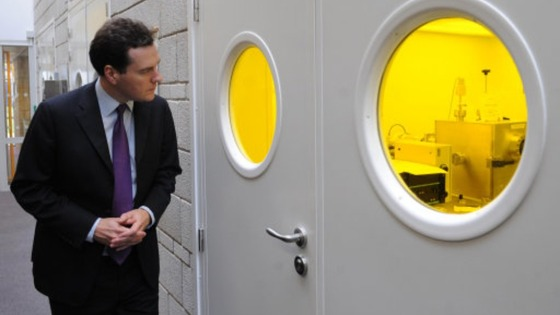 Chancellor George Osborne toured labs at the University of Manchester where he saw research into the use of Graphene in October 2011.