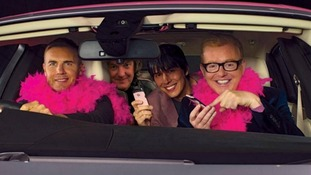 Gary Barlow, Brian Cox, James May and Chris Evans raise money for breast cancer on charity drive