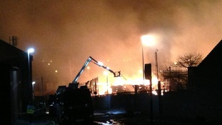 Around 100 firefighters are tackling the blaze in Nechells