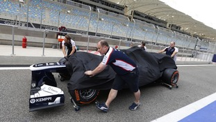 Preparations are under way at the Bahrain circuit ahead of Sunday's Grand Prix.