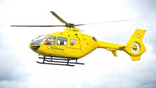 North West Air Ambulance aircraft in action.