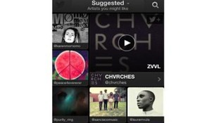 The app suggests artists you might like to listen to.