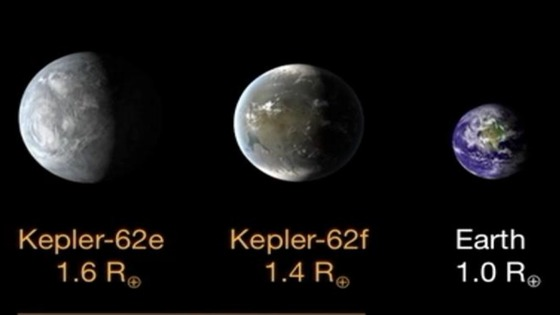"NASA said Kepler-62f is likely to be rocky, while 62e may be a ""water world"""