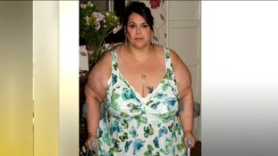 Marie Eaton weighing 50 stone