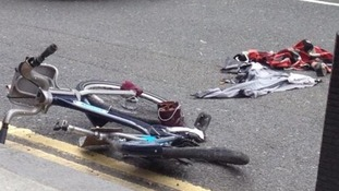 The bike after the accident
