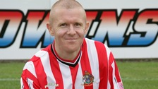 Mark 'Maddog' Maddox when he played for Altrincham FC.