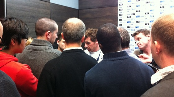 Andre Villas-Boas at Spurs' pre-match press conference