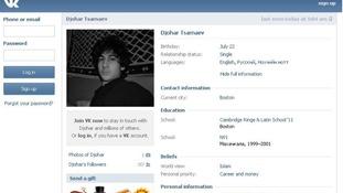 Dzokhar Tsarnaev's VK.com profile