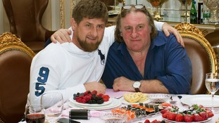 Ramzan Kadyrov met actor Gerard Depardieu in the Chechen capital Grozny this year