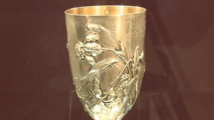 The marathon winner's cup.