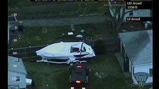 The boat containing bombing suspect Dzhokar Tsarnaev
