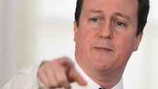 Britain's Prime Minister David Cameron makes a speech on the Big Society