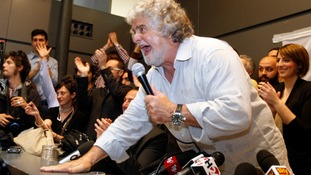 Leader of the anti-establishment 5-Star Movement Beppe Grillo.