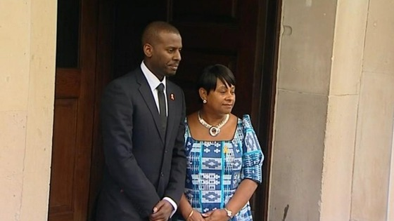 Stephen Lawrence's brother Stuart with his mother Doreen
