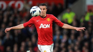 Robin Van Persie scores a hat trick for Manchester United at Old Trafford
