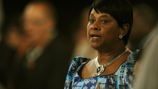 Doreen Lawrence during a memorial service for Stephen Lawrence