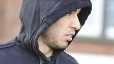 Luis Suarez is seen in Liverpool on Monday
