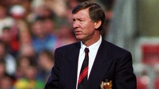 1993: Alex Ferguson watches from the touchline