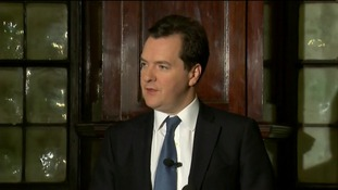 George Osborne speaking in Scotland today.